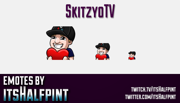 SkitzyoTV | Twitch Emotes | Cute Emotes | Custom Twitch Emotes | Emote Commissions | itsHalfpint | M