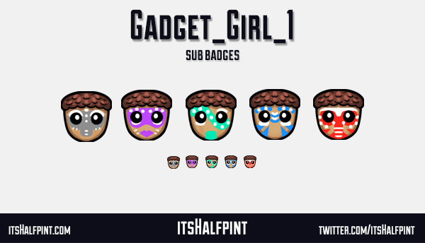 Gadget_Girl_1- sub badges twitch emote cute funny cool