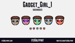 Gadget_Girl_1- sub badges twitch emote cute funny cool