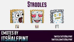 Strodles  | Twitch Emotes | Cute Emotes | Custom Twitch Emotes | Emote Commissions | itsHalfpint | M
