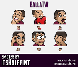 BallaTW  | Twitch Emotes | Cute Emotes | Custom Twitch Emotes | Emote Commissions | itsHalfpint | Mi