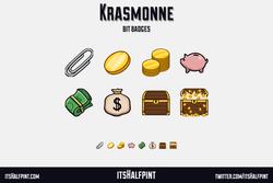 Krasmonne- sub Bit Badges twitch money chest loot