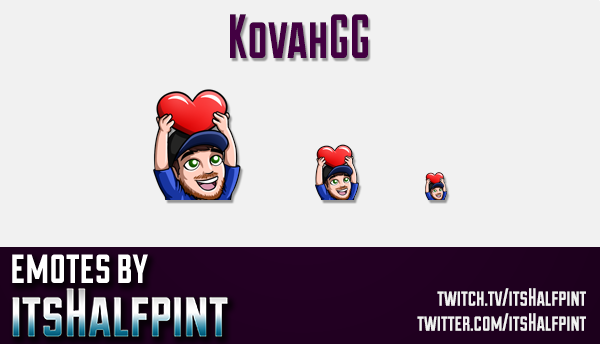 KovahGG  | Twitch Emotes | Cute Emotes | Custom Twitch Emotes | Emote Commissions | itsHalfpint | Mi