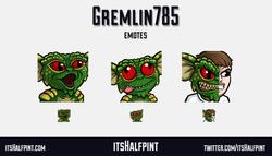 Gremlin785 | itsHalfpint emote artist| Twitch Emotes | Cute | Custom | Commissions  gremlins spike d