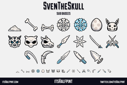 SvenTheSkull sub badges emotes skulls pokemon cute twitch
