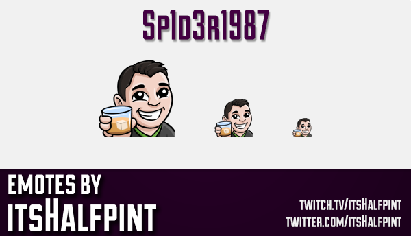 Sp1d3r1987  | Twitch Emotes | Cute Emotes | Custom Twitch Emotes | Emote Commissions | itsHalfpint |