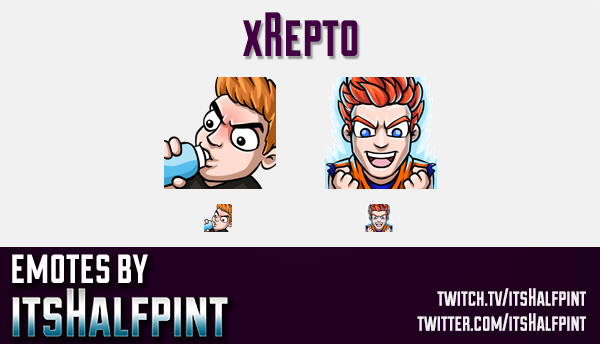xRepto  | Twitch Emotes | Cute Emotes | Custom Twitch Emotes | Emote Commissions | itsHalfpint | Mix