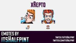 xRepto  | Twitch Emotes | Cute Emotes | Custom Twitch Emotes | Emote Commissions | itsHalfpint | Mix