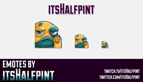 Bait | Twitch Emotes | Cute Emotes | Custom Twitch Emotes | Emote Commissions | itsHalfpint | Mixer