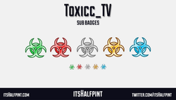 Toxicc_TV-  twitch sub badges emotes cool clean toxic