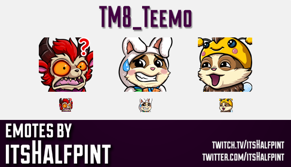 TM8_Teemo | Teemo Emotes | League of Legends  | Twitch Emotes | Cute Emotes | Custom Twitch Emotes |