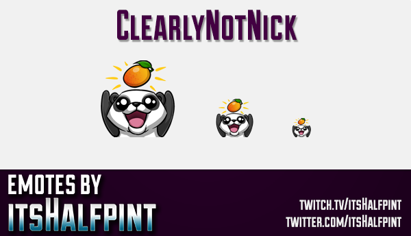 ClearlyNotNick  | Twitch Emotes | Cute Emotes | Custom Twitch Emotes | Emote Commissions | itsHalfpi