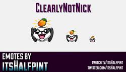 ClearlyNotNick  | Twitch Emotes | Cute Emotes | Custom Twitch Emotes | Emote Commissions | itsHalfpi