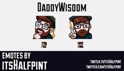 DaddyWisdom | Twitch Emotes | Cute Emotes | Custom Twitch Emotes | Emote Commissions | itsHalfpint |