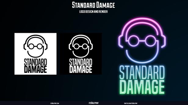 StandardDamage- Logo Design Logomark Graphic Vector