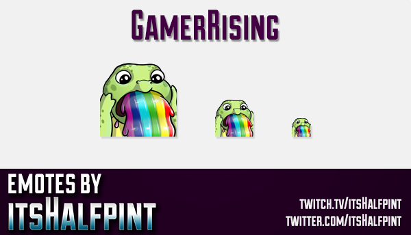 GamerRising  | Twitch Emotes | Cute Emotes | Custom Twitch Emotes | Emote Commissions | itsHalfpint