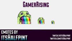 GamerRising  | Twitch Emotes | Cute Emotes | Custom Twitch Emotes | Emote Commissions | itsHalfpint