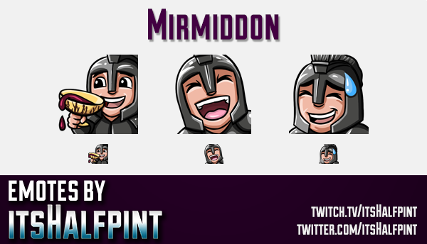 Mirmiddon  | Twitch Emotes | Cute Emotes | Custom Twitch Emotes | Emote Commissions | itsHalfpint |