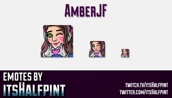 Amberjf | Twitch Emotes | Cute Emotes | Custom Twitch Emotes | Emote Commissions | itsHalfpint | Mix