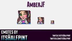 Amberjf | Twitch Emotes | Cute Emotes | Custom Twitch Emotes | Emote Commissions | itsHalfpint | Mix