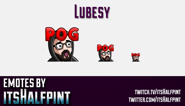Lubesy | Twitch Emotes | Cute Emotes | Custom Twitch Emotes | Emote Commissions | itsHalfpint | Mixe