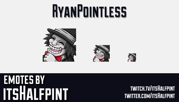 RyanPointless | Twitch Emotes | Cute | Custom | Commissions | itsHalfpint