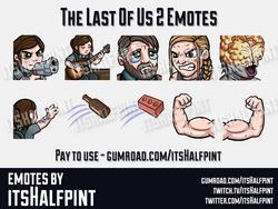 TLOU2  | Twitch Emotes | Cute | Custom | Commissions | itsHalfpint
