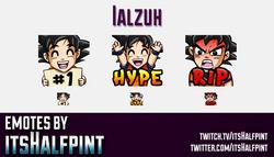 Ialzuh | Twitch Emotes | Cute Emotes | Custom Twitch Emotes | Emote Commissions | itsHalfpint | Mixe