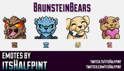 BrunsteinBears | Twitch Emotes | Cute Emotes | Custom Twitch Emotes | Emote Commissions | itsHalfpin