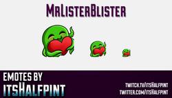 MrListerBlister  | Twitch Emotes | Cute Emotes | Custom Twitch Emotes | Emote Commissions | itsHalfp