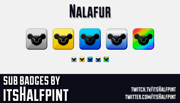 Nalafur- | Twitch Sub Badges | Bit Badge