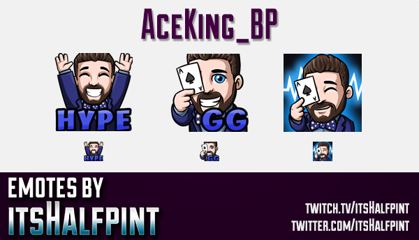 AceKing_BP | Twitch Emotes | Cute Emotes | Custom Twitch Emotes | Emote Commissions | itsHalfpint |