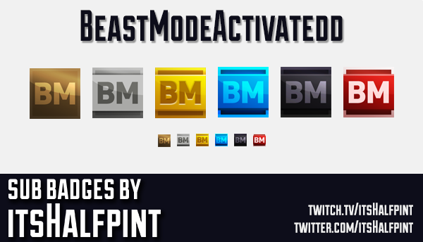 BeastModeActivatedd  | Twitch Sub Badges
