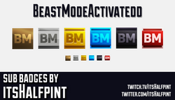 BeastModeActivatedd    Twitch Sub Badges
