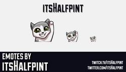 itsHalfpint  | Twitch Emotes | Cute Emotes | Custom Twitch Emotes | Emote Commissions | itsHalfpint