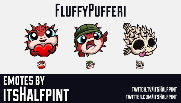 FullyPufferi | Twitch Emotes | Cute Emotes | Custom Twitch Emotes | Emote Commissions | itsHalfpint