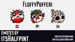 FullyPufferi | Twitch Emotes | Cute Emotes | Custom Twitch Emotes | Emote Commissions | itsHalfpint