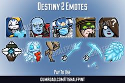 Destiny2 Beyond Light Zavala Eris Crow Elsie Cayde | Twitch Emotes | Cute | Custom | Commissions | i
