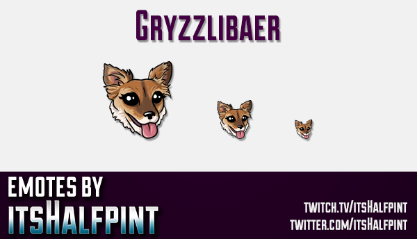 Gryzzlibaer | Twitch Emotes | Cute Emotes | Custom Twitch Emotes | Emote Commissions | itsHalfpint |