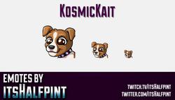 KosmicKait  | Twitch Emotes | Cute Emotes | Custom Twitch Emotes | Emote Commissions | itsHalfpint |