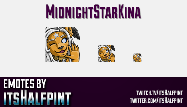MidnightStarKina | Twitch Emotes | Cute Emotes | Custom Twitch Emotes | Emote Commissions | itsHalfp