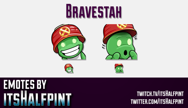 Bravestah  | Twitch Emotes | Cute Emotes | Custom Twitch Emotes | Emote Commissions | itsHalfpint |