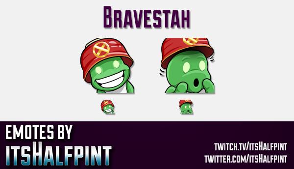 Bravestah  | Twitch Emotes | Cute Emotes | Custom Twitch Emotes | Emote Commissions | itsHalfpint |