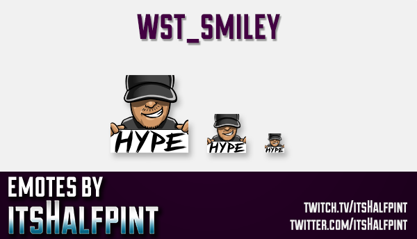 wst_smiley | Twitch Emotes | Cute Emotes | Custom Twitch Emotes | Emote Commissions | itsHalfpint |