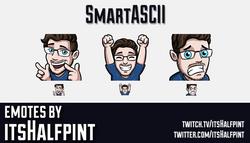 SmartASCII | Twitch Emotes | Cute Emotes | Emote Artist | itsHalfpint