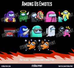 Among Us | twitch emotes custom cute funny sub badges itshalfpint vent sus report