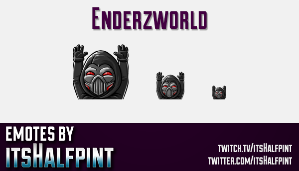 Enderzworld  | Twitch Emotes | Cute Emotes | Custom Twitch Emotes | Emote Commissions | itsHalfpint
