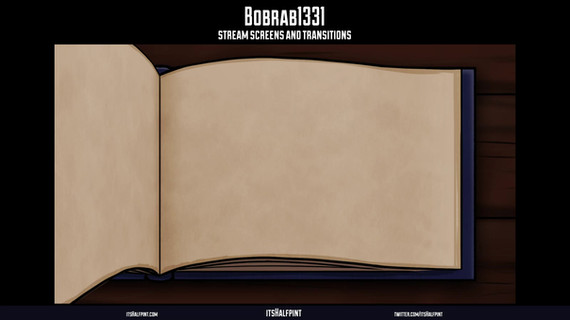 Bobrab1331 itshalfpint | Lord of the rings LOTR Screen Animation Transition Twitch Overlay Alerts illustrations