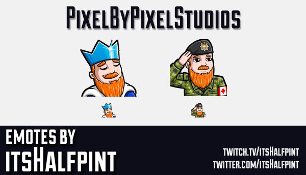 PixelByPixel | Twitch Emotes | Cute | Custom | Commissions | itsHalfpint