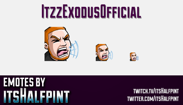 ItzzExodusOfficial | Twitch Emotes | Cute Emotes | Custom Twitch Emotes | Emote Commissions | itsHal